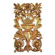 Hickory Manor House Openwork Floral Carving Wall D cor