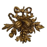 Hickory Manor House Fruit Carving II Wall D cor; Antique Gold