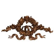 Hickory Manor House Ornate Floral Ribbon Wreath Wall D cor; Bronze