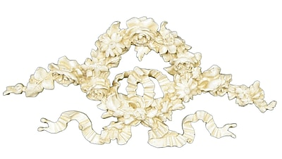 Hickory Manor House Ornate Floral Ribbon Wreath Wall D cor; Provincial