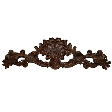 Hickory Manor House Clamshell Pediment Wall D cor
