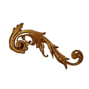 Hickory Manor House Right Embellished Scroll Wall D cor; Green / Gold