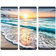 Next Innovations 3 Piece Cancun Sunset Metal HD Curved Wall D cor Set