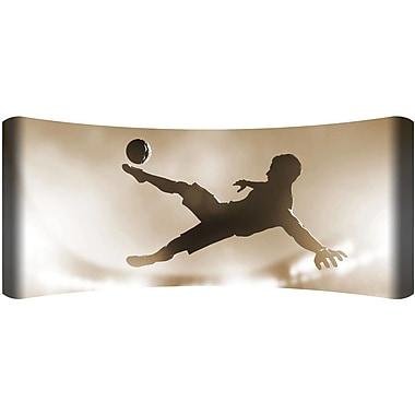 Next Innovations Soccer Kick Metal HD Curved Wall D cor