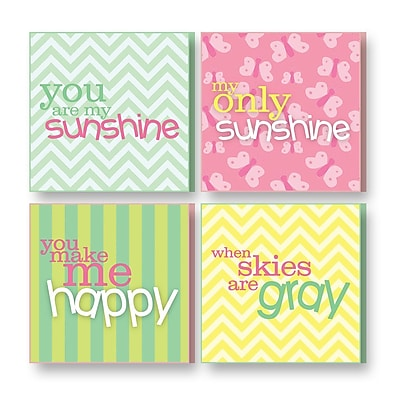 Imagine Design 4 Piece Treasured Times You are My Sunshine General Wall D cor Set