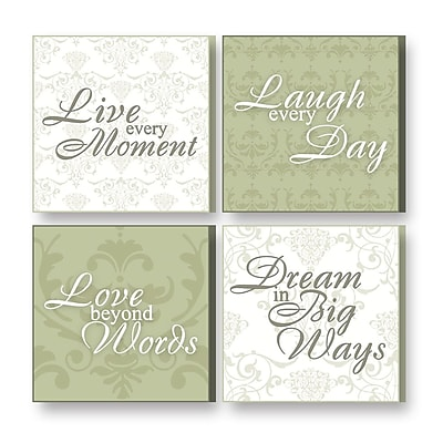 Imagine Design 4 Piece Treasured Times Live in The Moment General Wall D cor Set