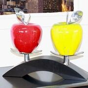 Infinita Corporation Artesana Medium Apple on Twin Bridge Sculpture
