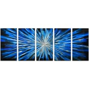 Omax Decor 5 Piece Blue Brilliance Wall D cor Set (Set of 5)