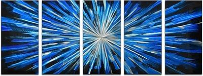 Omax Decor 5 Piece Blue Brilliance Wall D cor Set (Set of 5)