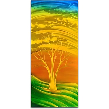 Omax Decor Fiery Golden Green Wall D cor