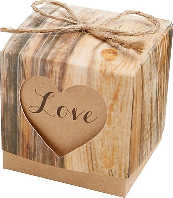 Kate Aspen Love Favor Decorative Box (Set of 24)