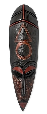 Novica Theophilus Sackey Sign of Justice Unique African Wood Mask Wall Decor