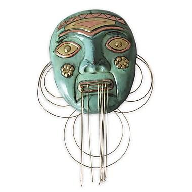 Novica Angel Franco Peruvian Copper and Bronze Mask Wall Decor