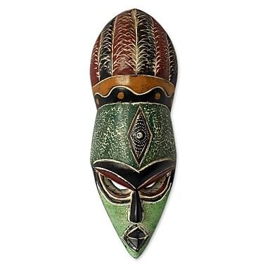 Novica Abdul Aziz Mohamadu God'S Gift Unique Nigerian Wood Mask Wall Decor