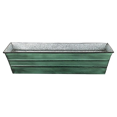 ACHLA Galvanized Metal Window Box Planter