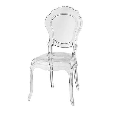 UrbanMod Barokai Side Chair; Clear