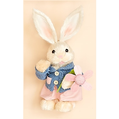 Worth Imports Rabbit Holding Flower Figurine