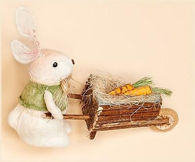 Worth Imports Rabbit Pushing Cart Figurine