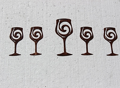 Say It All On The Wall 5 Piece Wine Glasses Metal Wall D cor Set