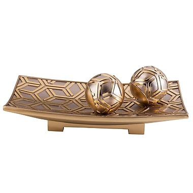 Sintechno Inc Artistic Geometric Decorative Bowl; Rose Gold