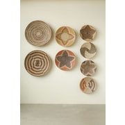 Creative Co Op Wall Decor creative co-op 2 piece havana seagrass basket wall decor set