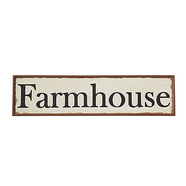 Creative Co-Op Wood Hand-Painted ''Farmhouse'' Wall D cor