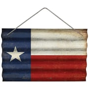 Wilco Home Texas Flag Corrugated Wall D cor