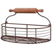 Wilco Home 1/2 Moon Rollpin Wall Basket