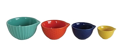 Creative Co-Op Waterside 4-Piece Stoneware Measuring Cup Set WYF078280036606
