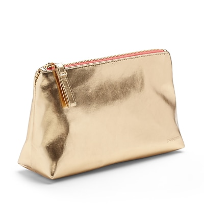 Poppin, Gold + Coral, Medium Accessory Pouch (102246)