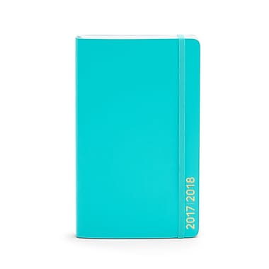 2017-2018 Poppin Medium Weekly/Monthly Softcover Planner, 18 month, Aqua (104453)