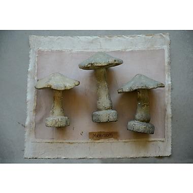 Creative Co-Op Botanical Decorative Magnesia Mushroom; 14.13'' H x 8.13'' W x 9.5'' D