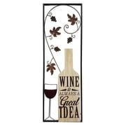 Stratton Home Decor Wine Panel Wall D cor