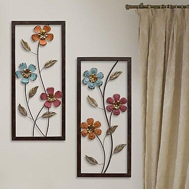 Stratton Home Decor 2 Piece Floral Panel Wall D cor Set