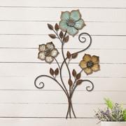 Stratton Home Decor Tricolor Flower Wall D cor