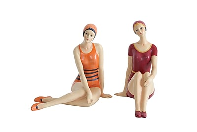 Creative Co-Op Bathing Beauty Figurines (Set of 2) WYF078280036413
