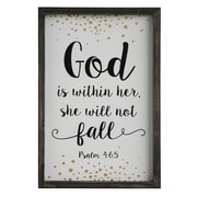 Creative Co-Op Inspirational God is within Her Wall D cor
