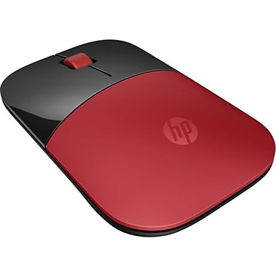HP® Z3700 Optical USB/RF Wireless Mouse, Red/Black (HPV0L82AA)
