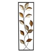 Stratton Home Decor Multi Metallic Leaves Panel Wall D cor