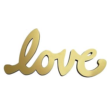 Stratton Home Decor Gold Script Love Wall D cor