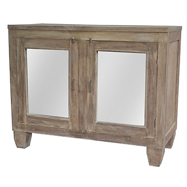 A&B Home Joshua Mirrored 2 Door Cabinet