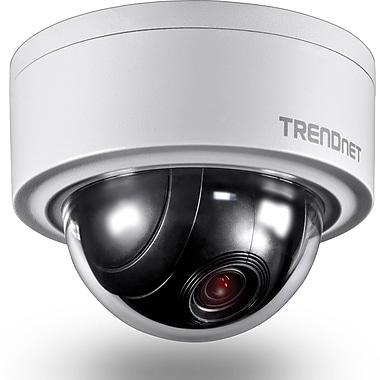 TRENDnet – Caméra réseau dôme PTZ motorisée 3 MP pour intérieur / extérieur TV-IP420P