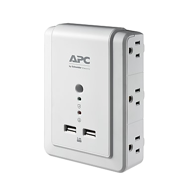 APC – Parasurtenseur mural SurgeArrest 1080 joules 6 prises avec ports USB