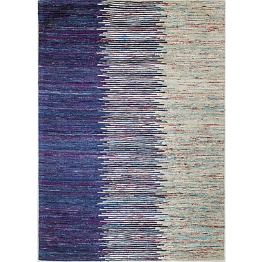 Bashian Rugs Bohemian Blue & Ivory Area Rug; Rectangle 5' x 7'