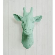 Wall Charmers Zimbabwe Faux Giraffe Head Wall D cor; Mint Green
