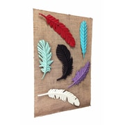 Wilco Home Smokey Cabin Embossed Metal Feather Magnet Wall D cor