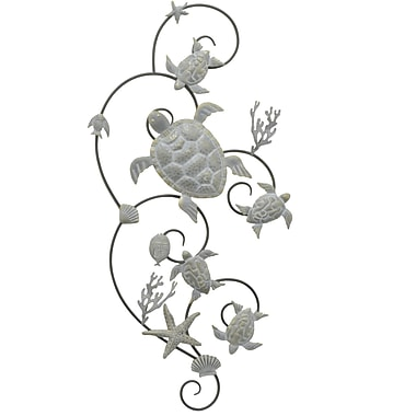 Three Hands Co. Turtle Motif Metal Wall D cor