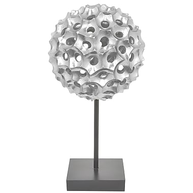 Three Hands Co. Resin Spiked Sculpture; Silver