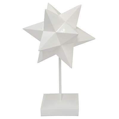 Three Hands Co. Resin Star Stand Sculpture; 19'' H x 11.25'' W x 9.75'' D