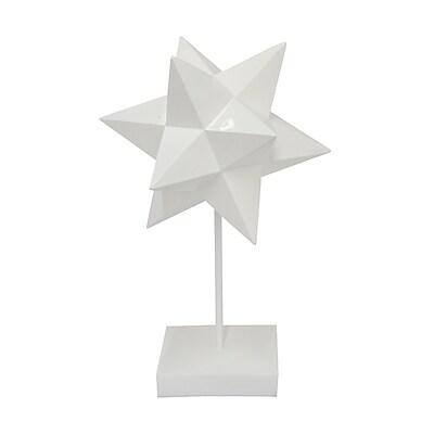 Three Hands Co. Resin Star Stand Sculpture; 14.25'' H x 9'' W x 8'' D